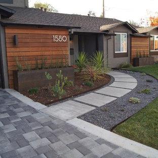 Modelo de jardín moderno, pequeño, en patio delantero