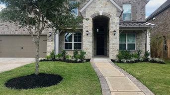 Front Yard and Backyard Landscape and Stone Edging Project