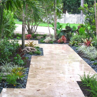 This is an example of a tropical landscaping in Miami.