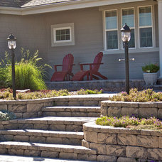 Contemporary Landscape by Allan Block Retaining Wall and Patio Wall Systems