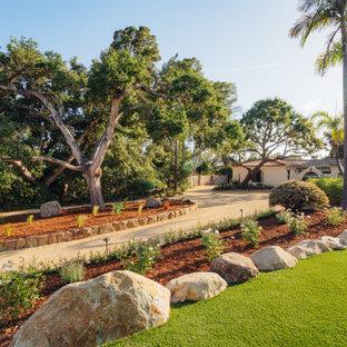Inspiration for a mediterranean partial sun front yard landscaping in Santa Barbara.
