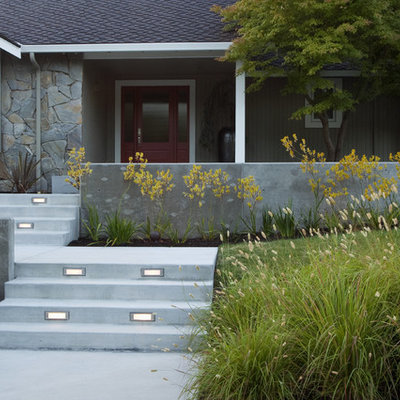 Design ideas for a traditional front yard landscaping in San Francisco.