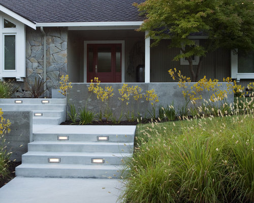 Modern Front Yard Garden Ideas front yard step | houzz