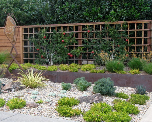 Photo Of A Mid Sized Contemporary Drought Tolerant And Full Sun Front Yard  Concrete. Save Photo. Kellie Carlin Landscape Design