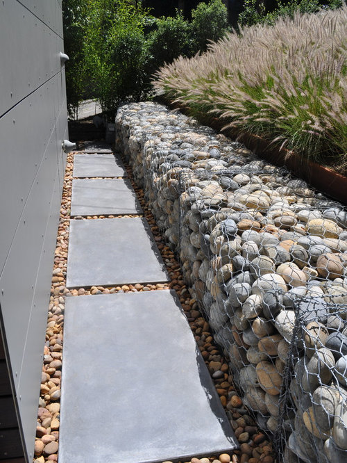 Gabion Retaining Wall Home Design Ideas Renovations Photos