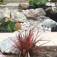 Landscaping with stones and boulders