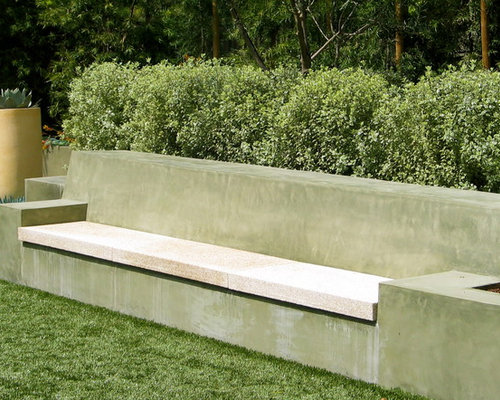 Poured Concrete Bench Ideas Pictures Remodel and Decor