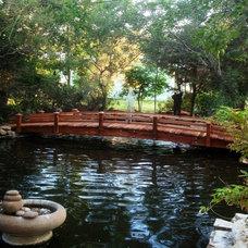 Tropical Landscape by www.RedwoodGardenBridges.com