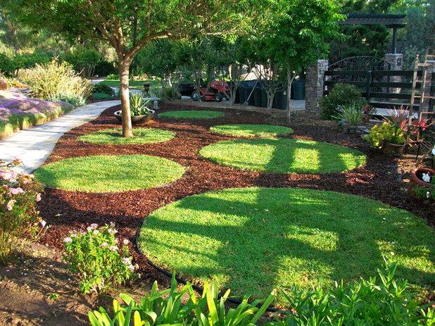 Contemporary Landscape Garden circles