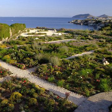 Garden design in Greece on the island of Paros