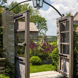 Idées déco pour un très grand jardin à la française latéral campagne l'été avec une entrée ou une allée de jardin et une exposition ensoleillée.
