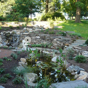 Inspiration for a traditional water fountain landscape in Philadelphia.