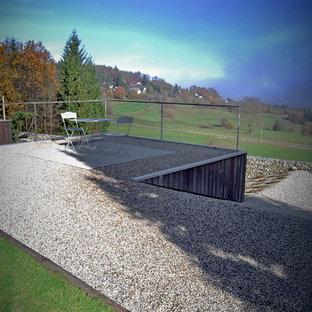 Foto di un giardino minimal sul tetto con ghiaia