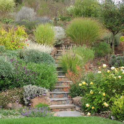 Photo of a traditional hillside stone landscaping in San Francisco.