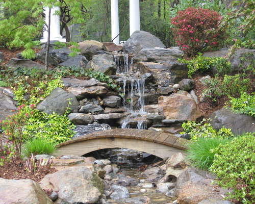 Good Photo Of A Traditional Backyard Stone Water Fountain Landscape In Miami.  Save Photo. Waterfalls Fountains U0026 Gardens