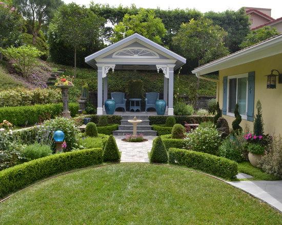backyard pavilion   houzz - Patio Pavilion Ideas