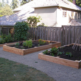 This is an example of a traditional vegetable garden landscape in Portland.