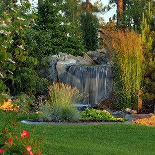 Inspiration pour un jardin traditionnel avec une cascade.