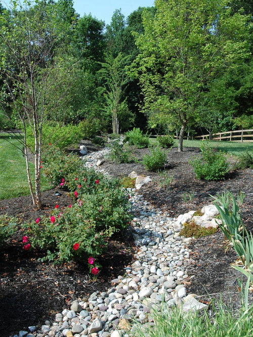 Landscaped Drainage Ditch Houzz
