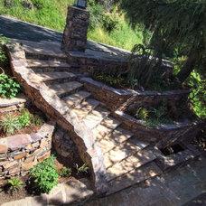 Mediterranean Landscape by Lazar Landscape Design and Construction