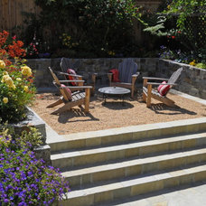 Mediterranean Landscape by Lazar Landscape Design and Construction