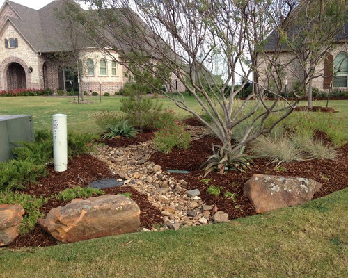 Landscape Boulders Dallas Tx : Prosper tx rustic contemporary landscape for custom homes