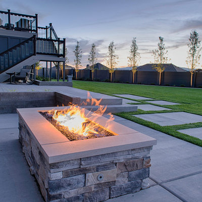 This is an example of a contemporary landscaping in Salt Lake City.