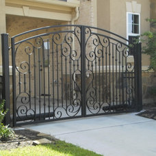 Traditional Entry by Custom Security Fence & Iron Works, LLC