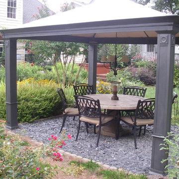 Gather with friends under this shady, garden gazebo