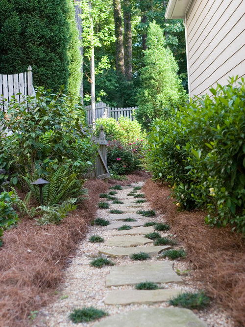 Stepping stone walkway houzz - Yard stepping stone ideas ...