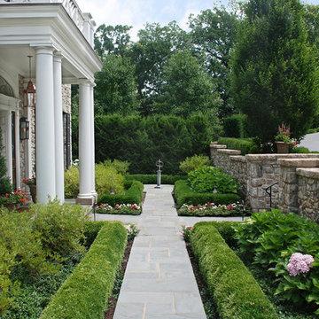 Georgian Style Home Walkway