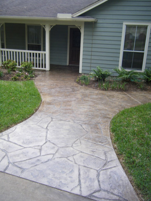 Flagstone Stamped Concrete : Stamped concrete flagstone houzz