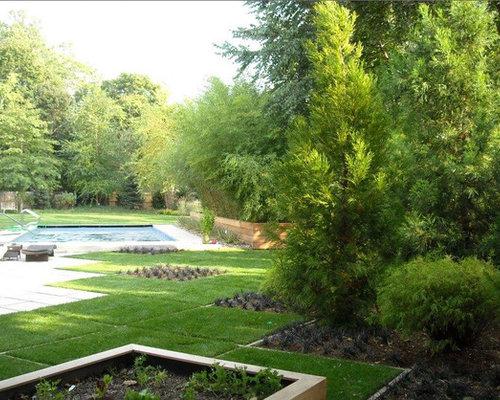 jardin potager avec des pav s en b ton photos et id es d co de jardins potagers. Black Bedroom Furniture Sets. Home Design Ideas