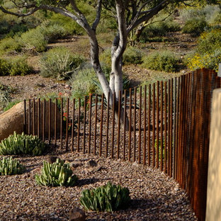 Inspiration for a large southwestern backyard stone landscaping in Phoenix.