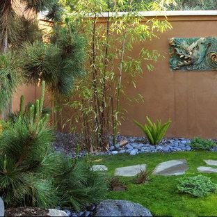 Inspiration for a mid-sized asian backyard formal garden in Santa Barbara.