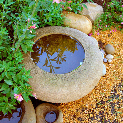 Inspiration for a traditional water fountain landscape in Santa Barbara.
