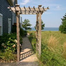 Beach Style Landscape by Planned Environment Associates