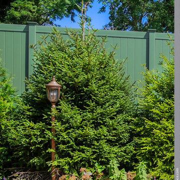 Grand Illusions Color Spectrum Forest Green Color PVC Vinyl Fence