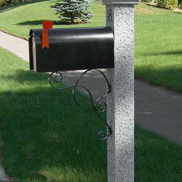 Granite Mailbox Post with Post Cap