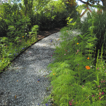 Gravel Path with Rusted Steel Edging