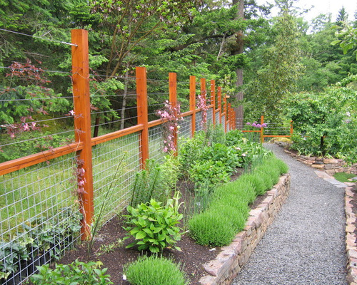 See through fencing houzz for Attractive garden fencing