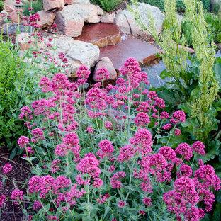 Idée de décoration pour un jardin tradition.