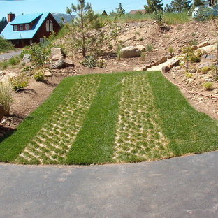 This is an example of a mid-sized contemporary front yard concrete paver driveway in Other.