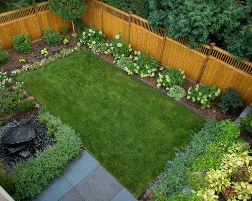 Fenceline landscaping houzz - Landscaping along a fence ...