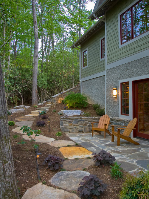 Design Ideas For A Mid Sized Eclectic Backyard Stone Landscaping In Other.
