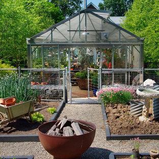 Idéer för industriella trädgårdar, med en köksträdgård
