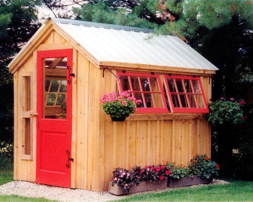Giardino shabby chic style boston foto idee per for Piccolo cottage moderno