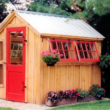 Greenhouse - post and beam shed kits
