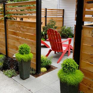 Jardin avec des pavés en béton : Photos et idées déco de jardins