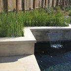 Outdoor Fireplace And Water Feature